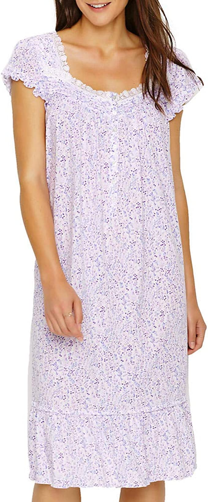 Eileen west nightgown XLarge  Cotton  Modal  Blend Lilac White