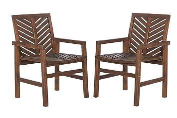 Amazon.com: Walker Edison Furniture Company Patio - Sillas ...
