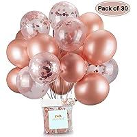 Globos de confeti de oro rosa Globo