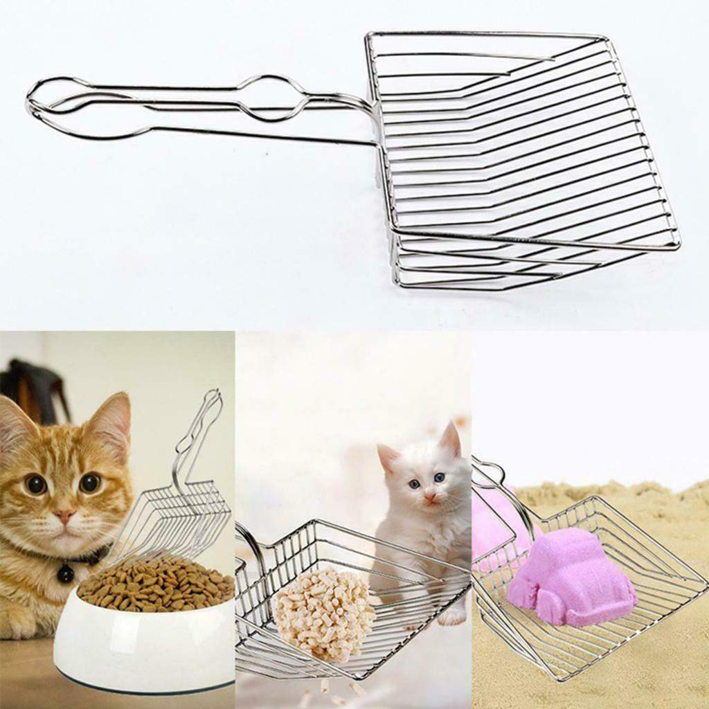 Annzoo Cat Litter Scoop, Durable Metal Pet Kitty Kitten Sifter Heavy Duty with Long Handle Pet Kitty Dog Pooper Scooper, Easily Clean Litter Box