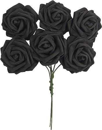 1 Bunch 6 Heads Colourfast Flowers Foam Roses Bouquet Wedding Artificial 7cm