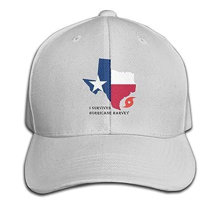 9213ca39765 Amazon.com   Texas Pride I Survived Hurricane Harvey Adjustable ...