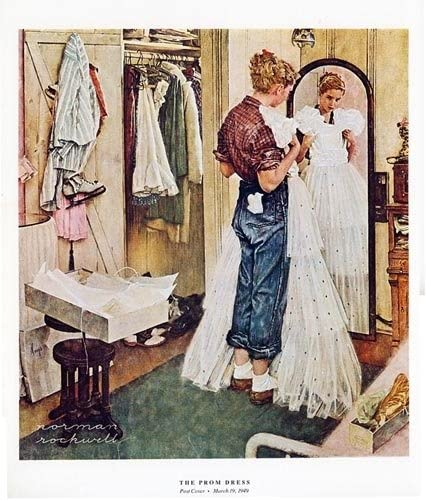 Norman Rockwell 1979 The Prom Dress