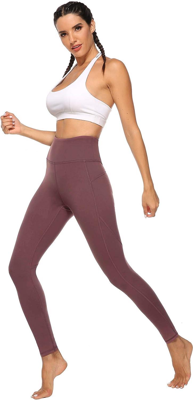 JOYSPELS Sporthose Damen mit Pfirsich Design Blickdichte Sport Leggings Lange Sportleggins Yogahosen