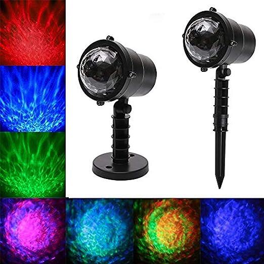 Iluminación exterior impermeable LED de agua Ondas proyector de ...