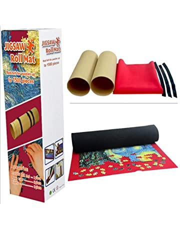 SAMTITY Portable Puzzle Mat Puzzles Travel Storage bag Jigsaw Roll Felt Mat Playmat Puzzles Blanket For Up to 1500 Pieces