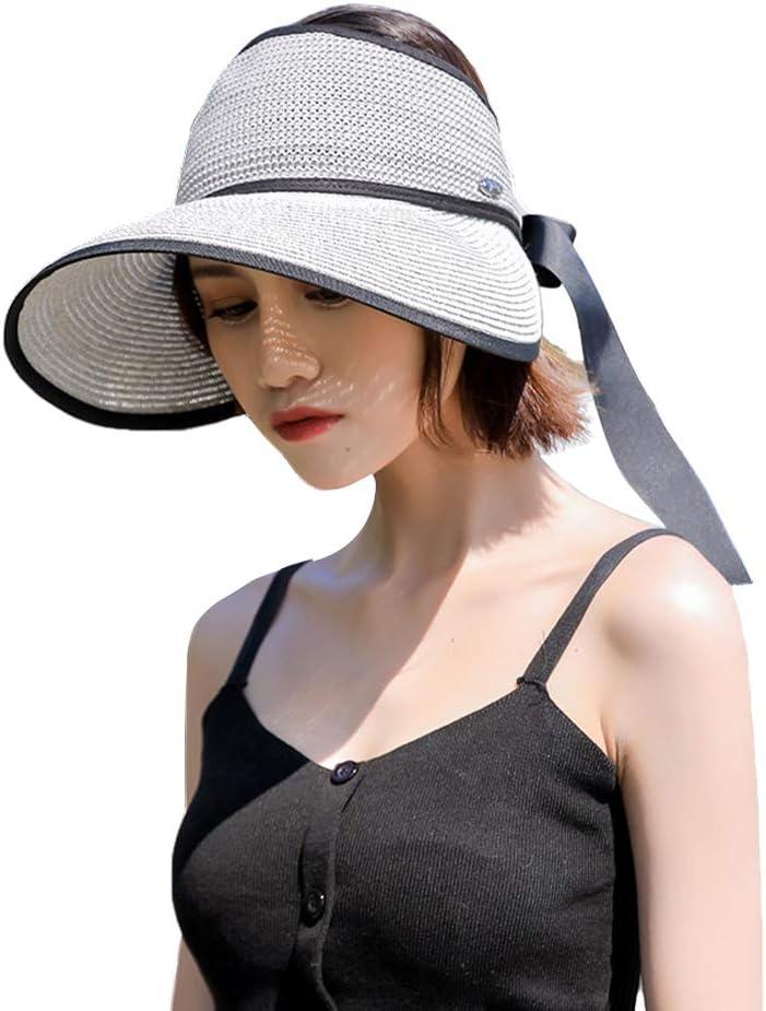 Gisdanchz Cappello Mare Donna Tesa Larga Cappello Pieghevole Cappelli Paglia Visiera