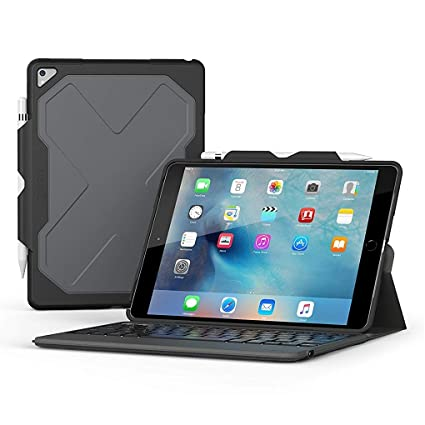 bb59f2dd78f66 Amazon.com  ZAGG Rugged Messenger - 7 Color Backlit Case and Bluetooth  Keyboard for 2017 Apple iPad Pro 10.5
