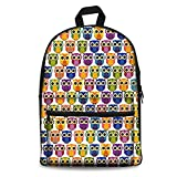 Showudesigns Owl Casual Youth Student School Bagpack Girls Practical Bookbag