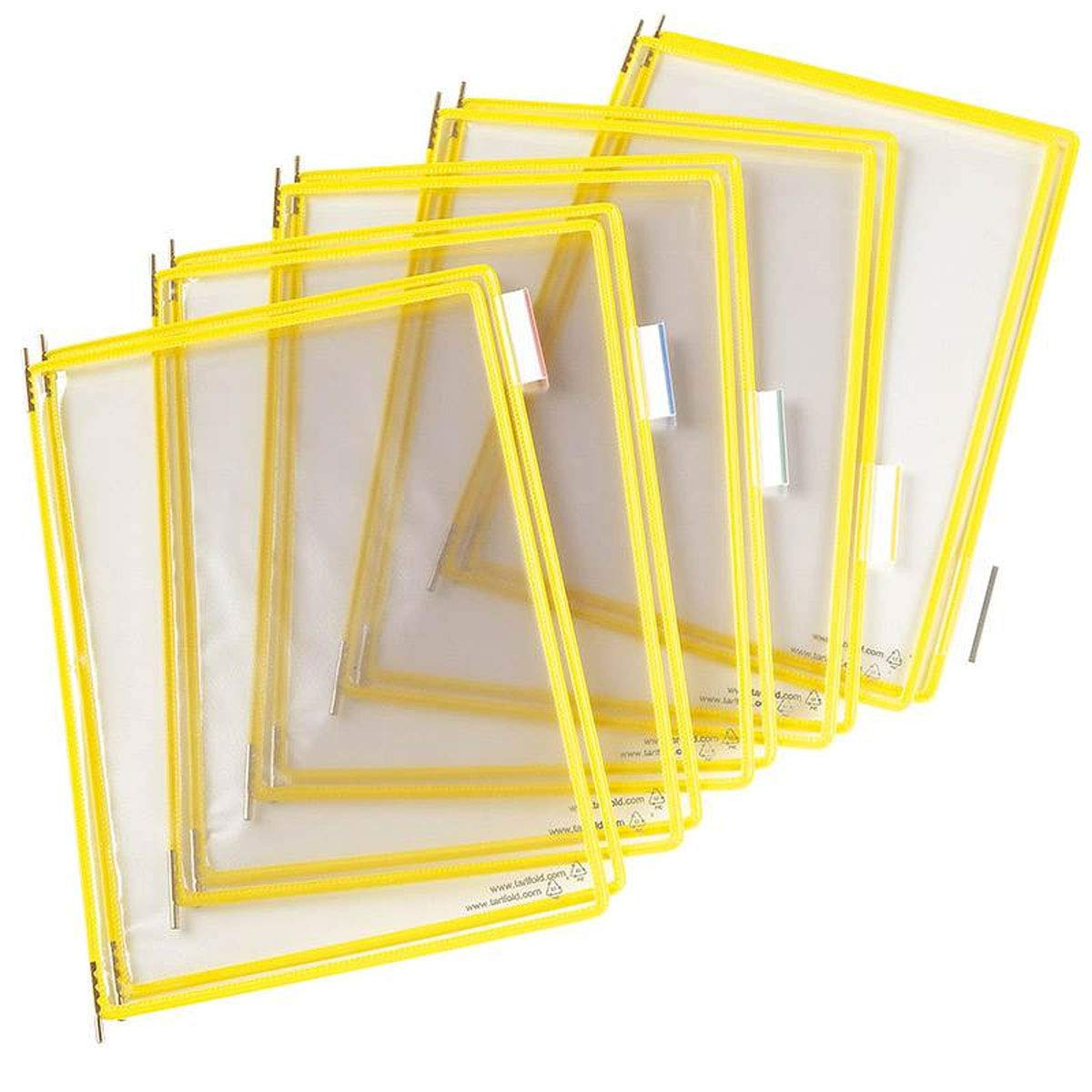 Tarifold P040 Pivoting Pockets for Wall, Desk or Rotary Systems, Yellow, 10/Pack