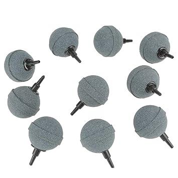 Zerone 10 x 50 mm 2 Pulgadas Acuario Aire Piedra Pecera Tanque Accesorios Piedras de Aire Bomba Difusor Mineral Forma Redonda para Peces Tanques Hidropónico ...