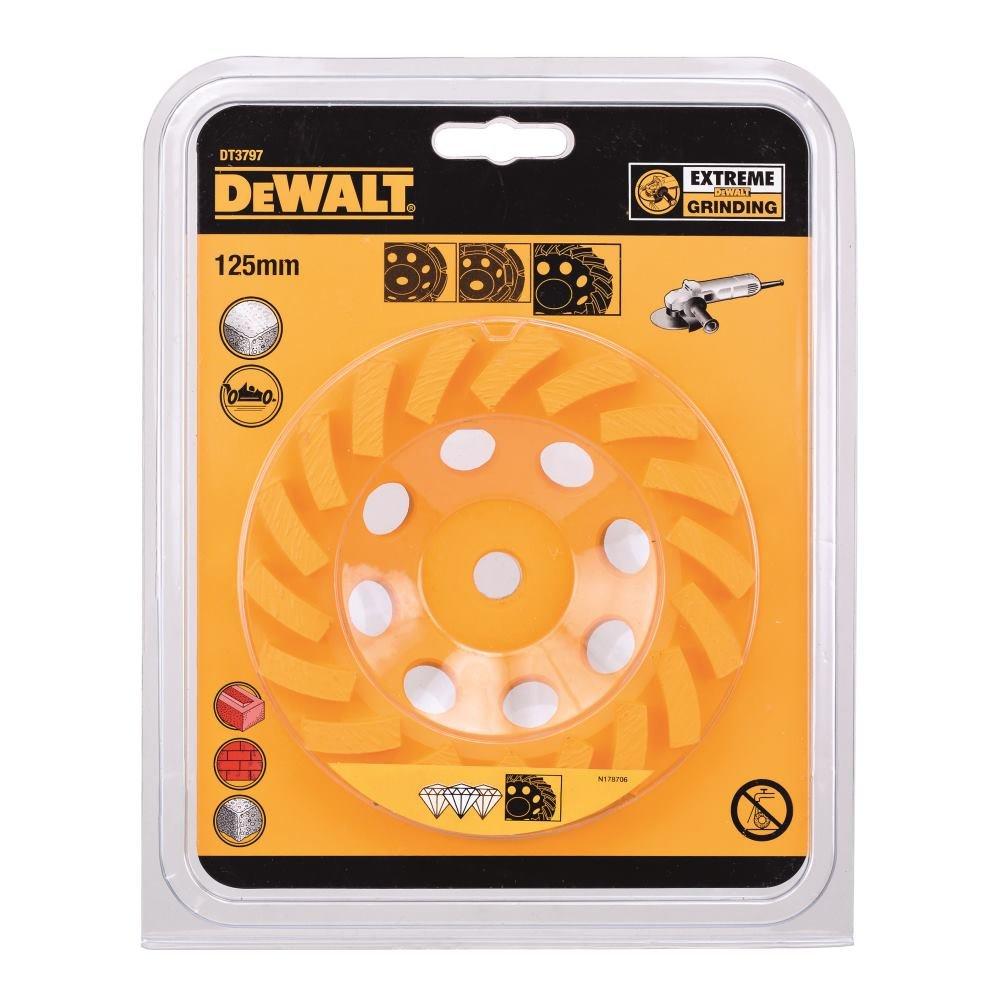 DeWalt DT3797-QZ Disco de Copa de 125 mm Rosca M14 Turbo, 1 W: Amazon.es: Bricolaje y herramientas