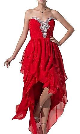 775e32a8269d9 Roberoody Elegant Nice Women's Chiffon Multi-tiered Asymmetric Hem ...