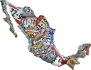 product image for Surf To Summit Plasma Cut Aluminum Mexico License Plate Map Sign Metal Sign Mexicana Home Decor Wall Art Garage Art Plasma Cut Steel Sublimated Rustic Sign Birthday Gift Mexican License Plate