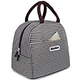 Toys : BALORAY Lunch Bag Tote Bag Lunch Organizer Lunch Holder Lunch Container (Brown White Stripes)