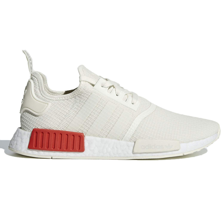 7123229a7e adidas Originals Men's NMD_R1 Off-White/Off-White/Lush Red 4 D US D (M)