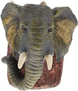 الفيلة وعاء فرشاه الراتنج قلم رصاص إناء القلم حامل القلم حاويه التخزين الثابتة