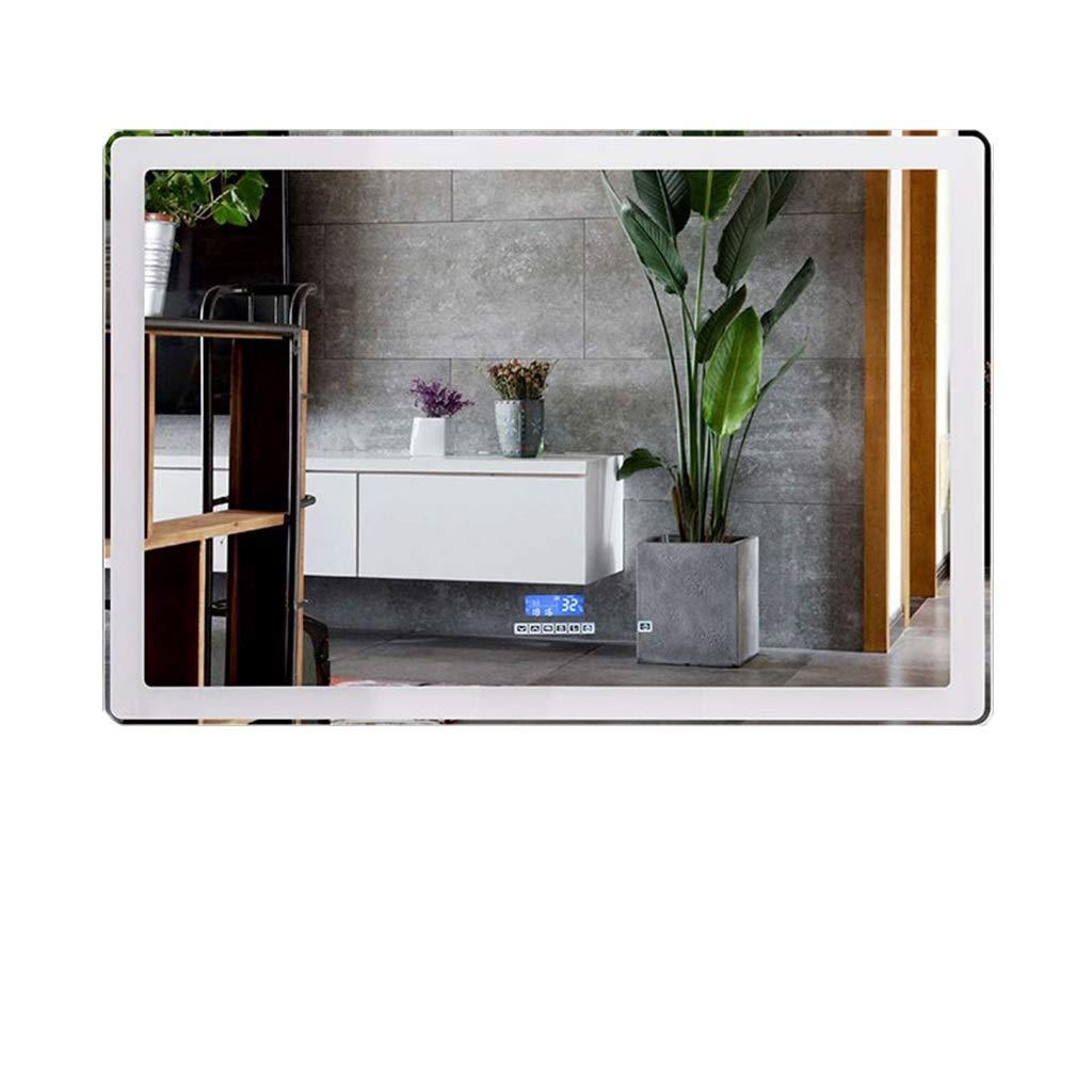 NJYT 照明付き壁掛け浴室用ミラー LED照明付き高級バスルームミラー リビングルーム寝室用ホール廊下 (Color : Warm light, Size : 60CMx80CM) B07SX7QWBY Warm light 60CMx80CM
