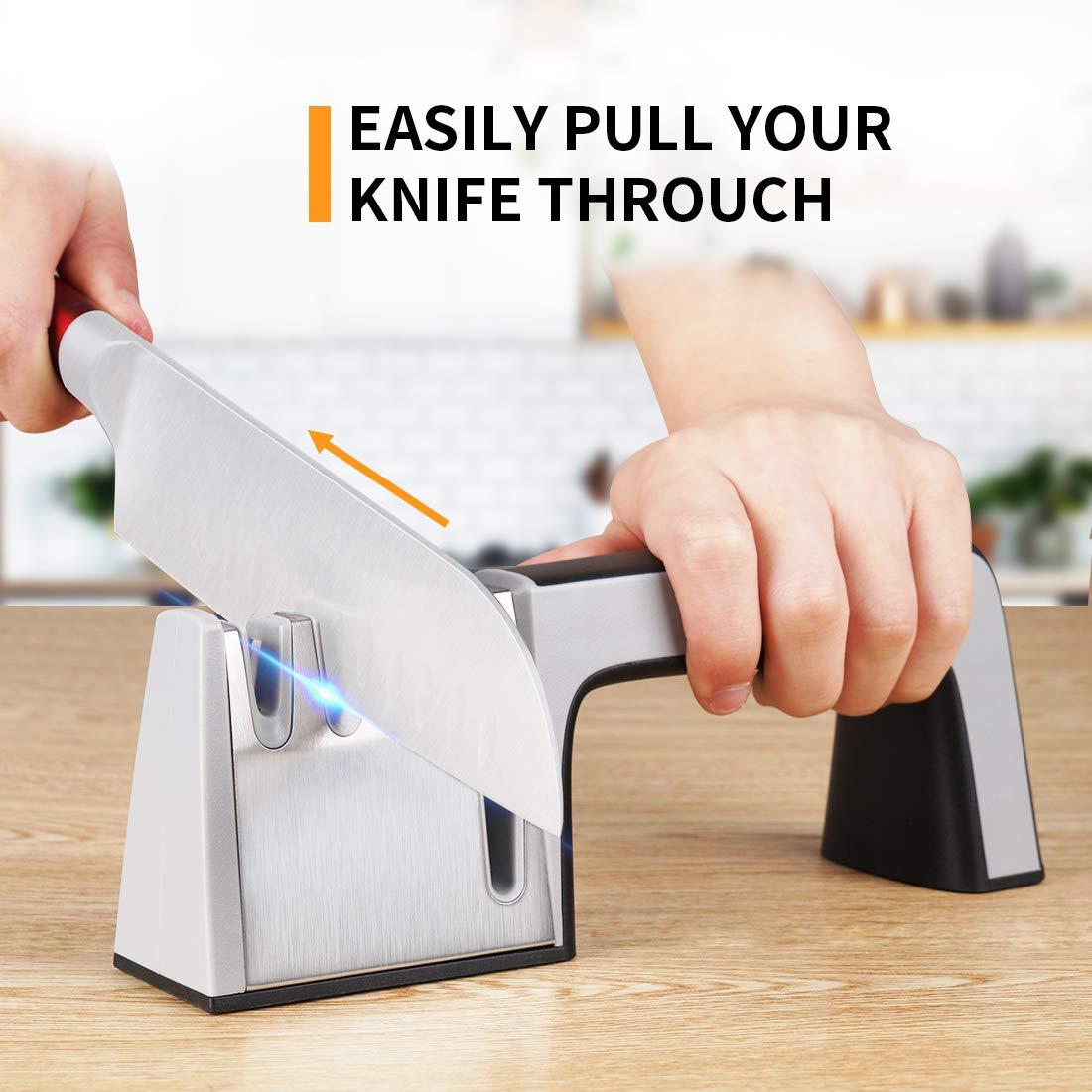 Amazon.com: MIGECON - Afilador de cuchillos de acero ...