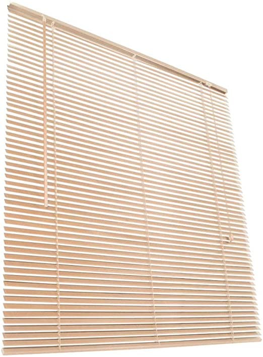 Jago Store Vénitien En Bois Véritable 110 X 220 Cm Longueur Ajustable Par Retrait De Lamelles Naturel Diverses Tailles Au Choix