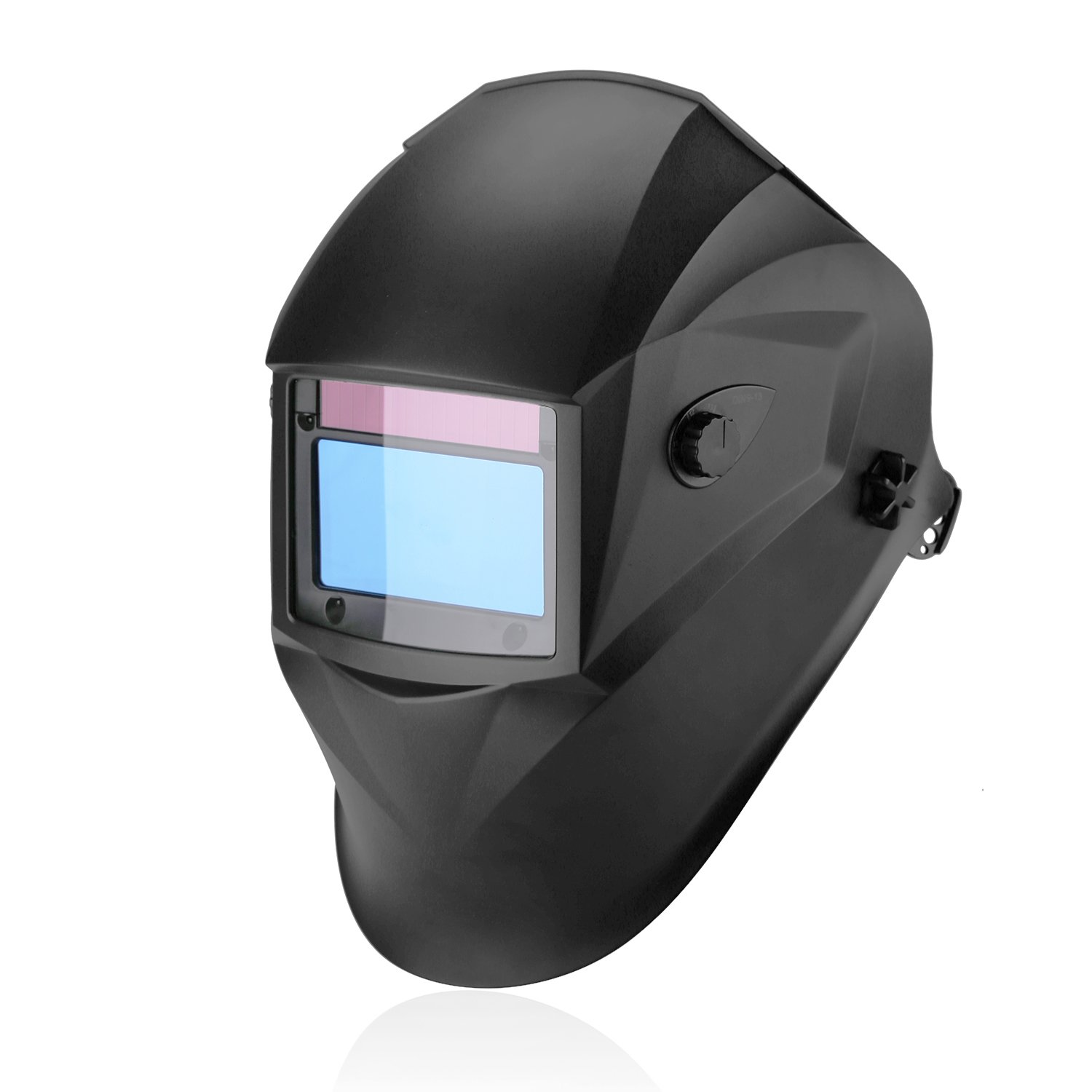Auto Darkening Welding Helmet, 1/1/1/1 Solar Powered Welding Hood with Large View Area 3.94''x2.56'', Professional Grinding Welder Mask with 4 Arc Sensor, Wide Shade Range 3/4-13 for TIG MIG MMA Plasma by BESKAR