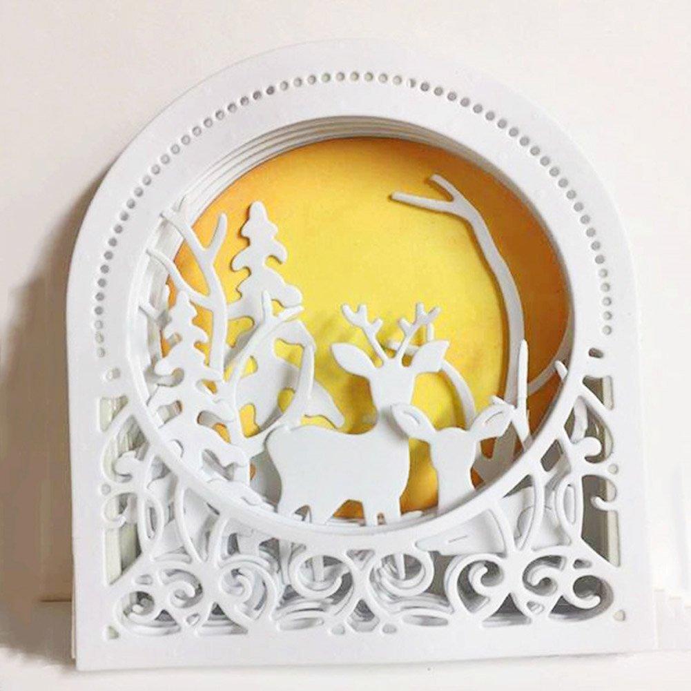 Beautyonline Christmas Deer Cutting Dies Handmade DIY Stencils Template Embossing for Greeting Card Art Craft Gift(H02) by Beautyonline (Image #2)