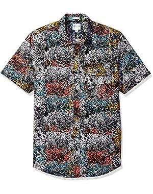 Men's Painterly Print Shirt
