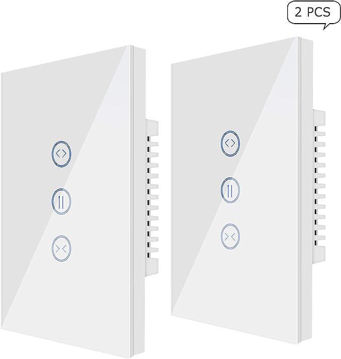 23 opinioni per Wi-Fi Curtain Switch, Jinvoo Controller Roller Shutter Switch, US Smart Touch