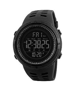 Uomo Orologio Digitale Sport Militare orologi Easy Read Orologio per studenti impermeabile cronometro classica nero