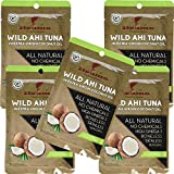 Itsumo Wild Ahi Tuna in Extra Virgin Coconut Oil (5 Packs) - Premium Yellowfin Tuna Fish - Healthy Natural Ingredients - Paleo & Gluten Free Protein Packet