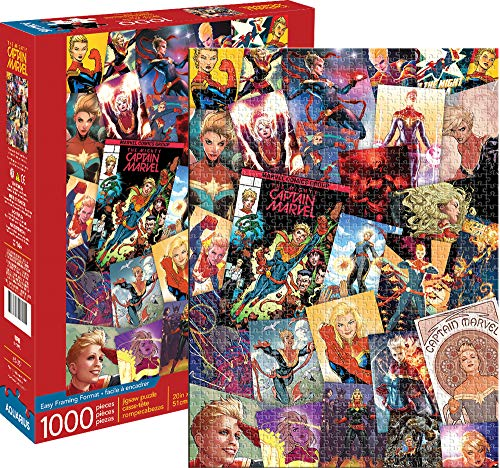 Marvel Captain Marvel Collage 1000 pc Puzzle (Best Marvel Games For Pc)