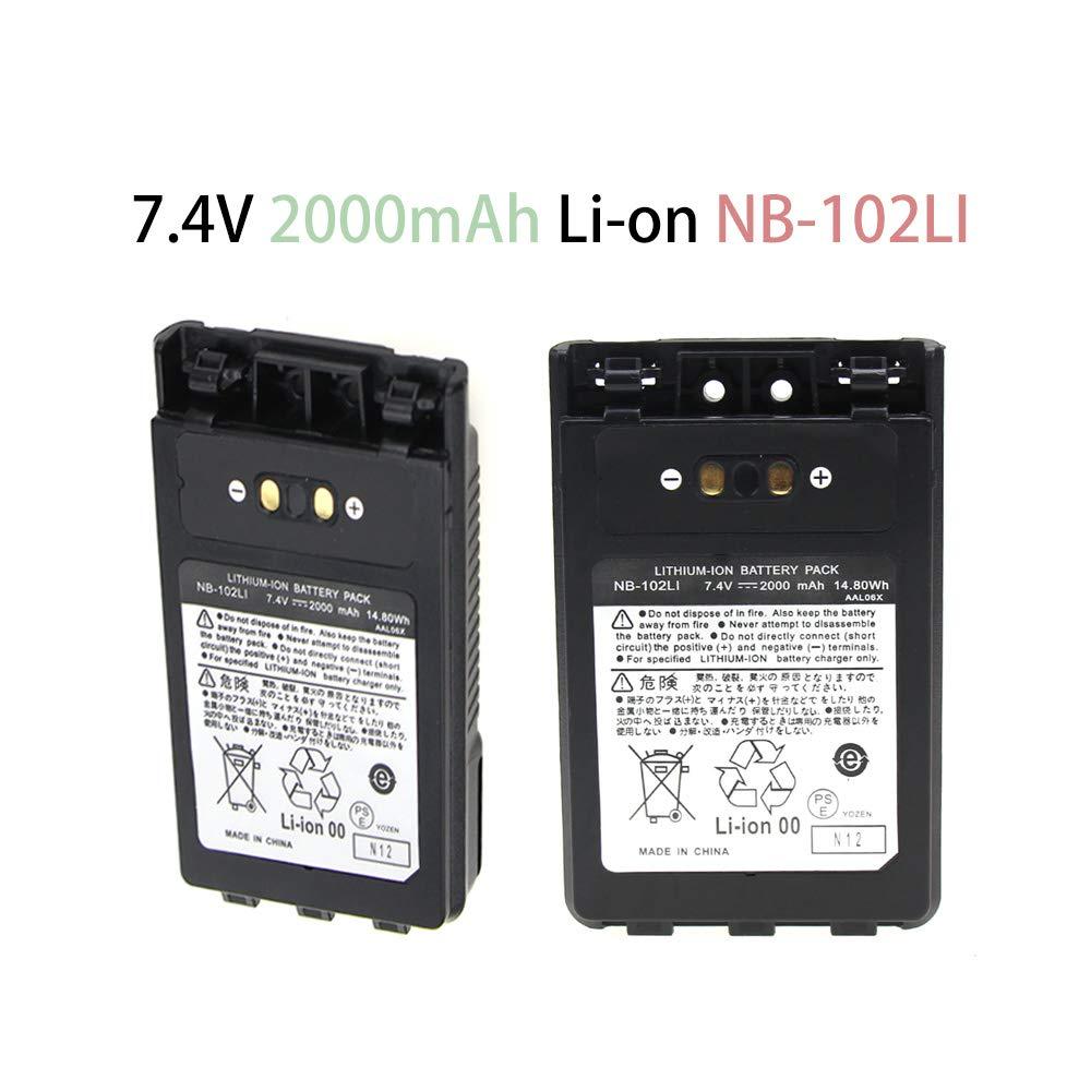 Walkie Talkie Rechargable Battery for VX-8DR FT-1DR FT1XD FT-2DR Radio FNB-102LI FNB-101Li Li-ion 2000mAh Two-Way Radio Battery
