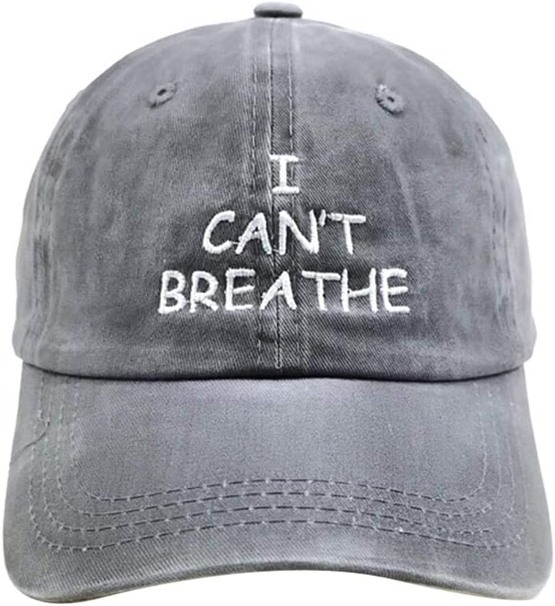 I Cant Breathe Baseball Cap Embroidery Hat for Men Women Outdoors Baseball Fitted Cap