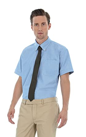 e42fcaf399f7 B&C BCSMO02 B & C Oxford short sleeve shirt (also in Plus Size ...