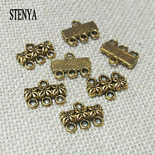 Vintage Gold Silver Pendants | 3 Rows Strands Toggle Clasps Necklaces | Findings Link Multilayers Buckle - Toggle Row