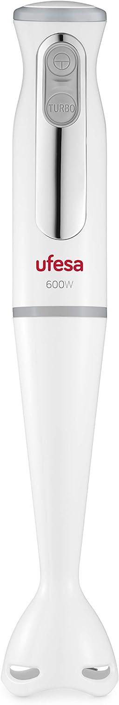 Ufesa BP3441 Vital - Batidora de mano, potencia 600 W, función Turbo, cuchillas de acero inoxidable, sin BPA
