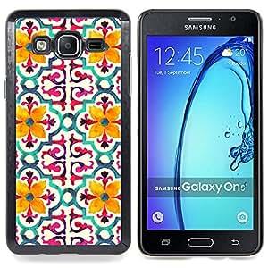 Stuss Case / Funda Carcasa protectora - Modelo de flor estilizada Amarillo - Samsung Galaxy On5 O5