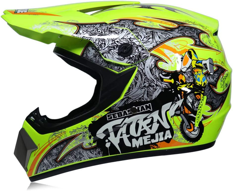 Casco da moto integrale integrale Shield Off Road Casco da motocross Motocross ATV Downhill MTB DH Casco da corsa Cross Helme DOT