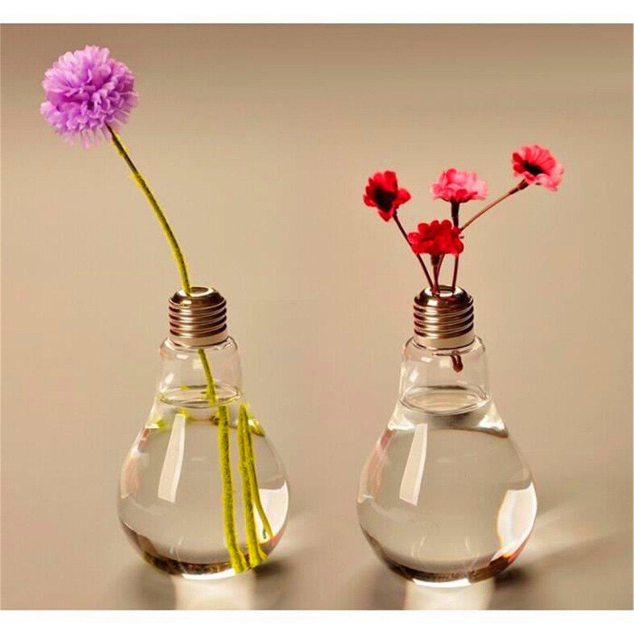 drawihi cristal claro jarrón flores planta bombilla forma ...