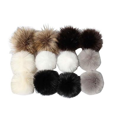Amazon.com: Hongxin DIY bolas de pompones de pelo Fluffy ...