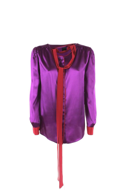 Pinko Camicia Donna 46 Viola/Rosso Angelo Autunno Inverno 2018/19