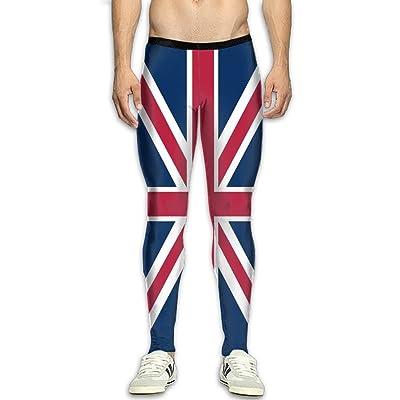 GFGRFDD Men's UK Flag Sports Compression Tight Leggings