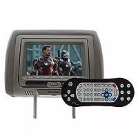 Descanso de Cabeca Multilaser com DVD LCD 7 Polegadas Cinza com Controle AU707