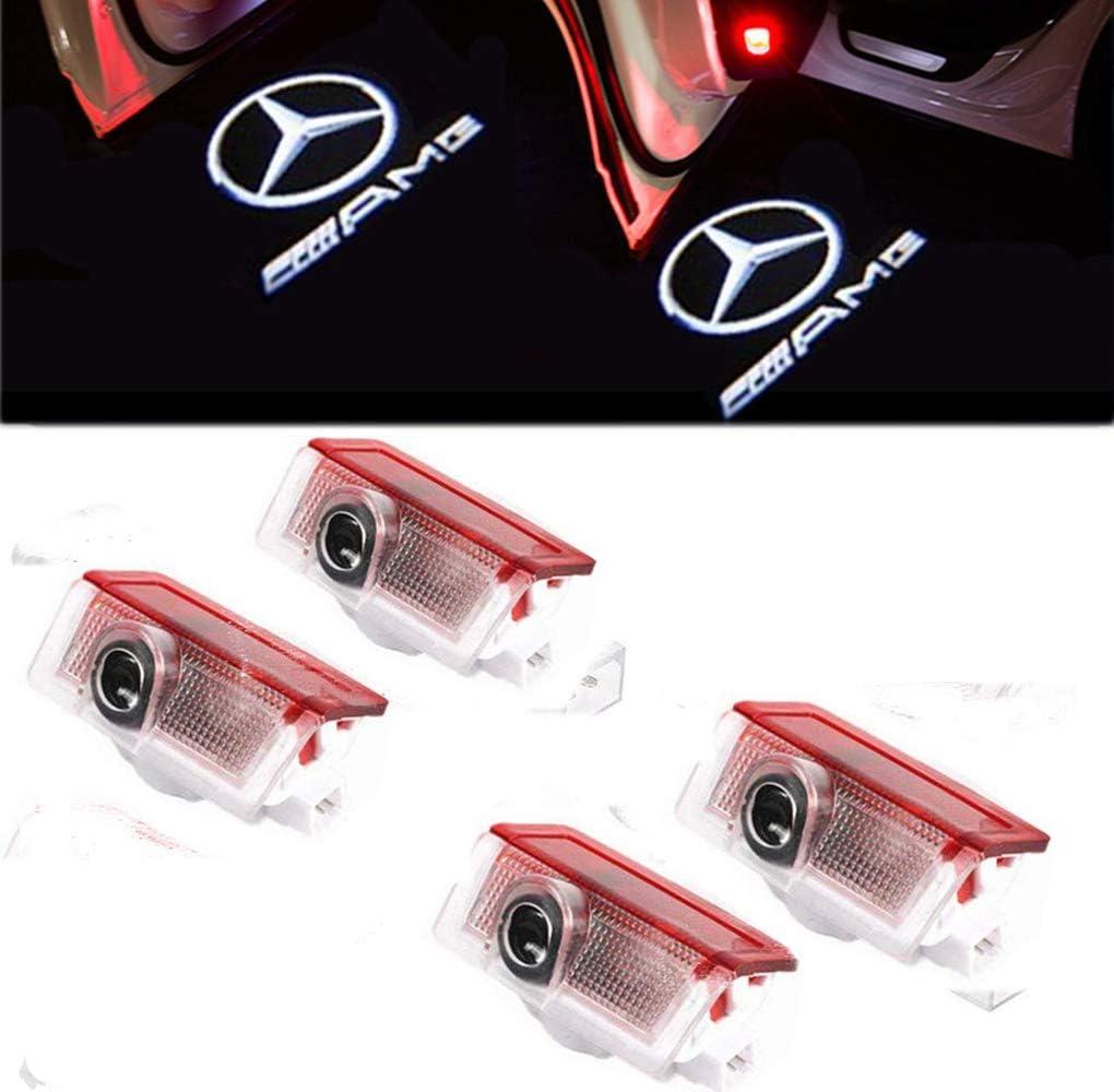 GUPENG Luz de Bienvenida del Logo del Coche 4 x Logo Logo L/ámpara Sombra el proyector HD de S/ímbolo de proyecci/ón de Las Luces de Entrada for la Corona de Toyota Corolla Camry Prado
