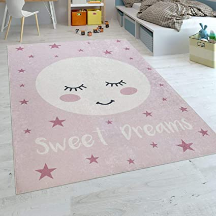 Paco Home Childrens Rug Childrens Bedroom Girls Washable ...