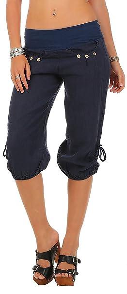 ShallGood Mujer Pantalón Bombacho Aladino Harem Pantalón 3 4 Yoga Baggy  Aladin Boyfriend Sudadera Pantalón Corto Colores Sólidos Yoga Capri Cortos  De ... 9aa6bcb5b463