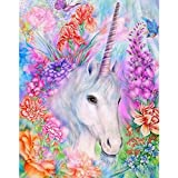 Arts & Crafts : 5D Diamond Painting, Full Drill Unicorn Crystals Embroidery DIY Resin Cross Stitch Kit Home Decor Craft (Unicorn in Garden)