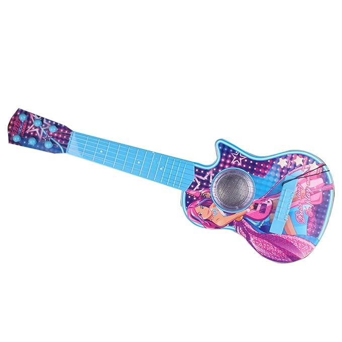 Guitare électrique enfant, Teckpeak 6 Cordes Guitare Enfant Mini Guitare Lumière électronique Instrument Musical Jouet éducatif