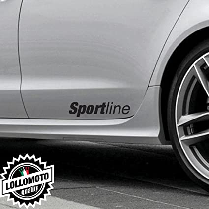 Kit 2 Pz Adesivi Minigonne Sport Line Fiancate Per Audi Stickers