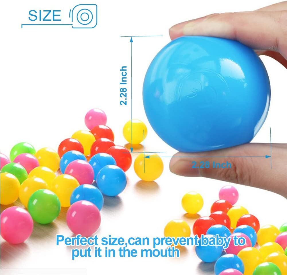 200PC Maskdoo 5.6CM Colorful Ball Fun Ball Soft Plastic Ocean Ball Baby Kid Toy Swim Pit Toy Non-Toxic